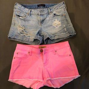 Pants - Two Pairs Vintage Style Jean Shorts Size 3 EUC